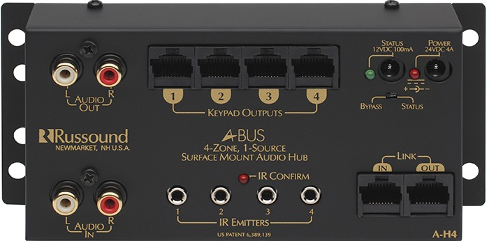 Russound A H4 1 Source 4 Zone Surface Mount Hub