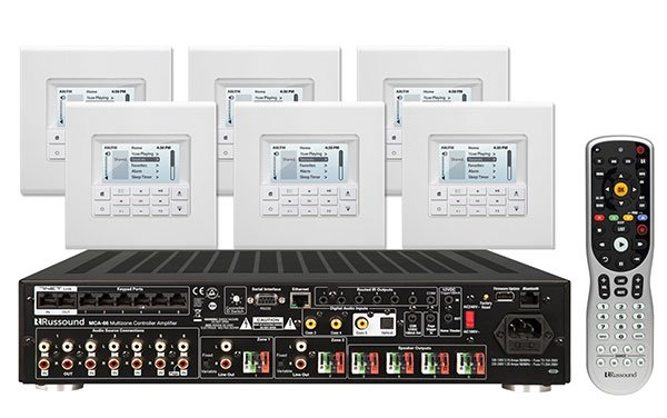Russound Kt2 66 Controller Amplifier System Kit With Mdk C6