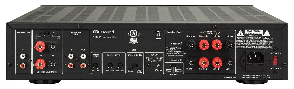 Russound - P125 Two-Channel, 125W, Dual Source Amplifier