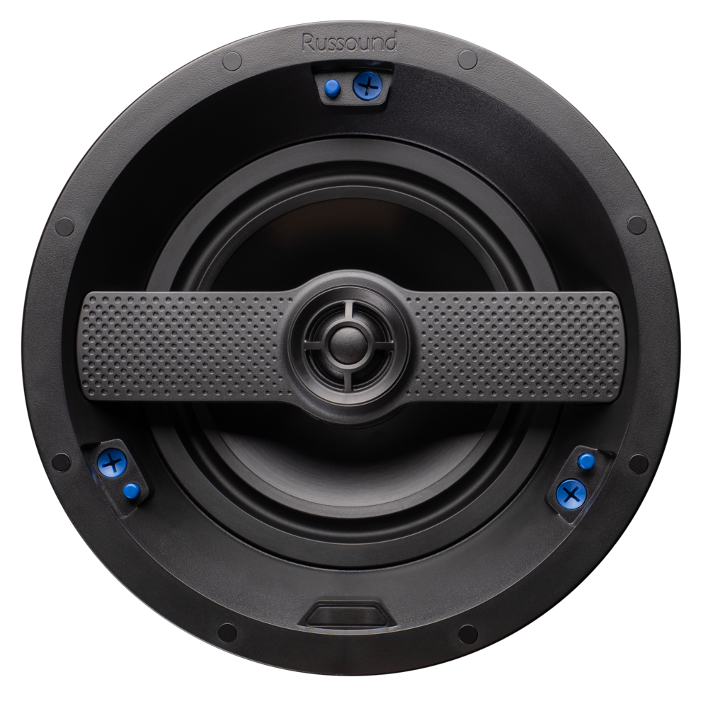Black Russound RSF-620 2-Way in-Ceiling//in-Wall High Resolution Speaker with 6.5-Inch Woofer and Edgeless Grille